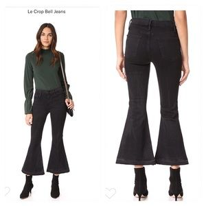 FRAME le crop bell flared jeans - Garvey